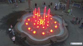 Светомузыкальный фонтан с декоративной опалубкой в Скарятинском сквере, г.Чистополь. 2019 г.