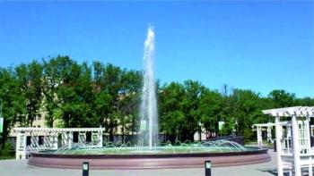Динамический фонтан «Универсиада 2013»