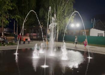 Пешеходный светомузыкальный фонтан с. Алнаши, Республика Удмуртия